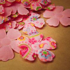 Fabric Paisley Flower Applique  #craft365.com