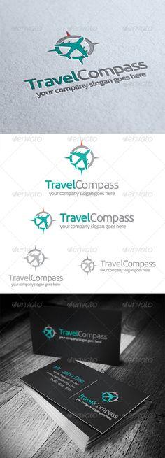 Travel #Compass Logo - #logo #logotype #template #design #tour #tourism #tourist #travel #aircraft #flight #airlines #plane
