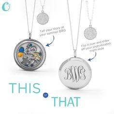 The *new* Large Silver Solid Twist Living Locket Base from Origami Owl can be worn 2 ways! Go from day to night- just by turning it over! How {owl}some is that!?