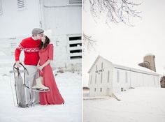 wonderful idea for engagement photos in the snow.