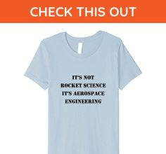 Kids It's Not Rocket Science It's Aerospace Engineering T-Shirt 6 Baby Blue - Math science and geek shirts (*Amazon Partner-Link)