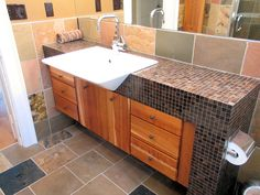 glass tile countertops - Google Search