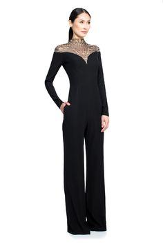35061a49857 Rynn Jumpsuit. Black Long Sleeve DressTadashi ShojiBlack ...