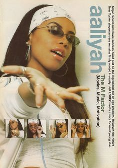 ~ Hip-Hop lives in my ♥ ~ Black 90s Fashion, 2000s Fashion, Hip Hop Fashion, Chica Hip Hop, 90s Hip Hop, Fille Hip Hop, Posters Wall, Aaliyah Style, Rip Aaliyah