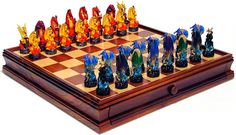 Google Image Result for http://perfectchesssets.com/themes/layout-1-both/images/demo4.jpg Dragon Chess Pieces