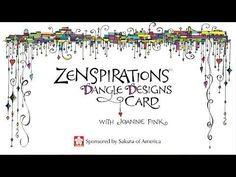 Grab a Micron and some paper and check out my latest video for Sakura: Zenspirations Dangle Designs for Lettering and Handmade Cards - Easy & Elegant Technique. Happy Dangling!