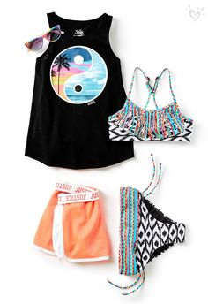Outfits Closet faves inspired by summer sunsets. Cute Girl Outfits, Kids Outfits Girls, Teen Fashion Outfits, Tween Fashion, Cute Summer Outfits, Sport Outfits, Girl Fashion, Tween Girls, Barbie Fashionista