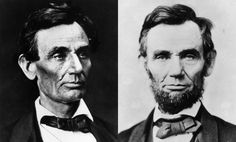 """In 1860, an 11-year-old girl named Grace Bedell wrote a letter to Abe Lincoln. 'Dear Sir...if you let your whiskers grow...you would look a great deal better for your face is so thin. All the ladies like whiskers and they would tease their husbands to vote for you and then you would be President...'"" He wrote back, and soon stopped shaving. ""On his inaugural train ride from Illinois to Washington, D.C., the president-elect stopped in Bedell's hometown of Westfield, N.Y., and asked to meet…"
