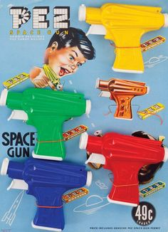 PEZ  |  ancien présentoir 50's // space gun vintage display
