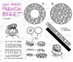 d61c89ec28576 Easy Peasy French Beret fabric by chezmargot on Spoonflower - custom fabric  Hat Patterns To Sew