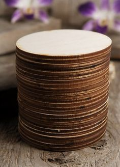 "11.00 SALE PRICE! 3"" Wood Circles 25 circles.. 3"" 1/8"" thick. made from birch plywood wood burned edges.. Also see: wood burning tools, acce..."