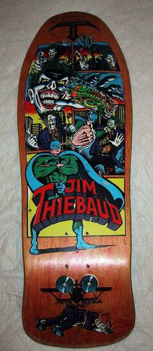 Jim Thibaud Joker vintage skateboard...