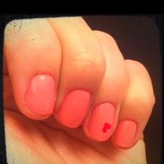 My nails today. Simple, but cute! :) Happy Valentine's Day!
