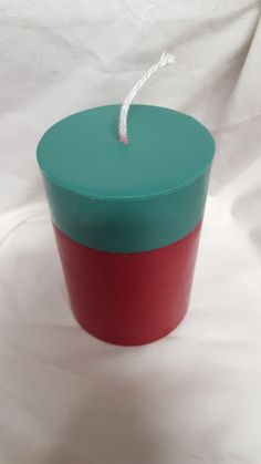 """4"""" Pillar 2 Tone Candle - Soy Wax - Holiday Scents"""