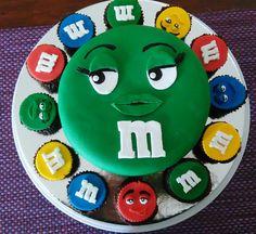 Cake M&M Luigi, Cake, Fictional Characters, Chocolate Torte, Themed Cakes, Kuchen, Fantasy Characters, Torte, Cookies
