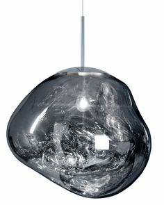 A collaboration between leading British designer Tom Dixon and Swedish design group FRONT, the Tom Dixon Melt Pendant Light has a fluid form and shining chrome finish. The molten form and finish of the Melt captures the beautiful optic glow an Ceiling Pendant, Pendant Lighting, Ceiling Lights, Pendant Lamps, Ceiling Chandelier, Pendants, Chandeliers, Tom Dixon Melt, Bar