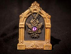 Eye of Enlil ltd. edition bronze wizard pendant with purple dragon eye - choose your color $65 Dragon Eye, Clock, Bronze, Pendant, Purple, Awesome, Jewelry, Home Decor, Jewellery Making