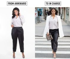 Pull your jogger pants down around your hips, instead of wearing them up around your waist.