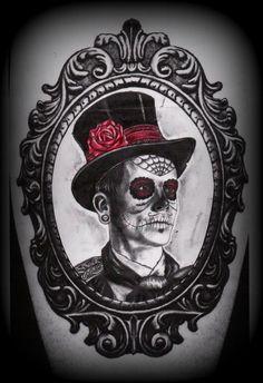 day_of_the_dead_man_in_frame_tattoo_deisgn_by_slabzzz-d5awymf.jpg 740×1,080 pixels