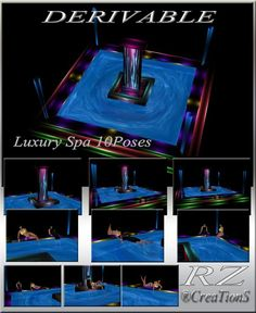 183. Luxury Spa With 10 Poses Mesh Furniture