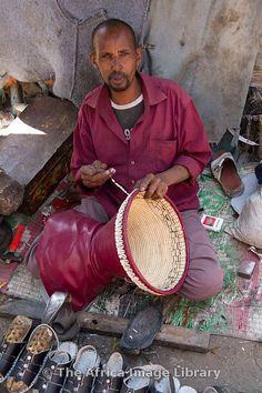 Crafts man at work in the market, Hargeisa, Somaliland, Somalia