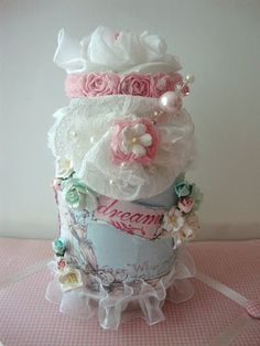 ILuvVintageScrap: Shabby Chic Altered Glass Jar Using Wild Orchid Cr...