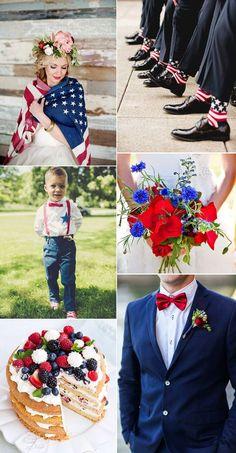 Fourth of July Inspired Wedding from B&E Lucky in Love Wedding Blog #julywedding #redwhiteblue #patrioticwedding