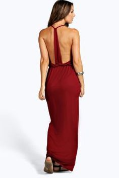 Sarah Strappy Back Maxi Dress at boohoo.com