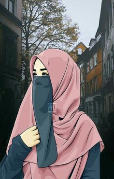 Cartoon Faces, Girl Cartoon, Muslim Girls, Muslim Women, Tmblr Girl, Muslim Images, Hijab Drawing, Islamic Cartoon, Hijab Cartoon