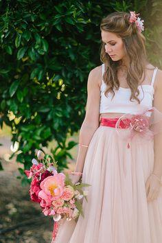 Bridal sash blush bridal sash boho bridal sash poppy by LoBoheme