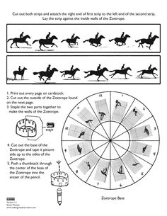 Papercraft Templates Elegant Muybridge Inspired Printable Papercraft Zoetrope Of Papercraft Templates Fresh Cube Outline Free Printable Diy With Kids, Art For Kids, Science Lessons, Art Lessons, Templates Printable Free, Printables, Flip Book Template, Frame By Frame Animation, Resource Room