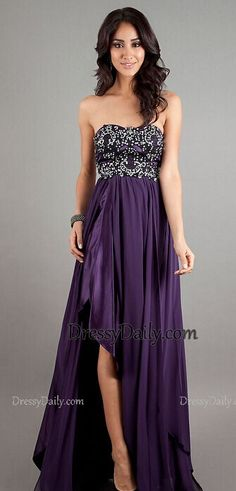 Exquisite Sweetheart Neckline Long Gown with Black Lace Bodice and Front Slit Purple Long Prom Dress #promdress
