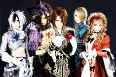 This is my favorite band, Versailles: Philharmonic Quintet. From left to right, Teru, Jasmine, Kamijo, Yuki, Hizaki; ALL MEN.