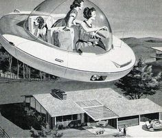 why not take the flying saucer car to run errands?