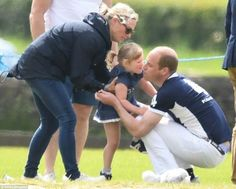 Zara Tindall, Mia Tindall, and William Duke of Cambridge at the Gloucester Festival of Polo. June 11 2017.