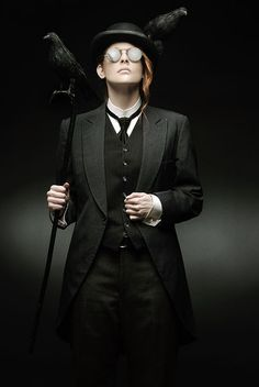 Kelley Slagle A simple Victorian mourning coat outfit on a good looking guy.