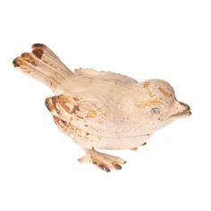 Une jolie petite boîte à secret poétique et plein de délicatesse à poser sur une commode ou pour décorer une table de repas. Cette charmante boîte est peinte en blanc avec une patine qui lui donne un petit côté ancien. Les yeux de l'oiseau sont en strass. 12,00 € http://www.lafolleadresse.com/boites-et-rangements/900-boîte-en-forme-d-oiseau-en-métal.html
