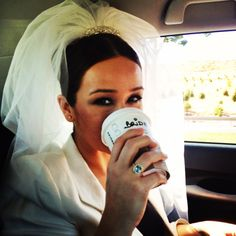 Bride's need of coffee