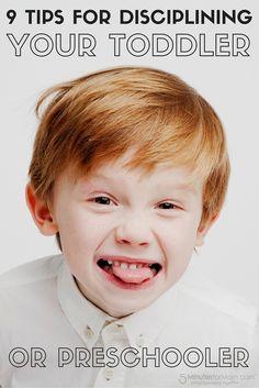 9 Effective Tips for Disciplining Your Toddler or Preschooler