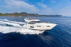 Princess 49 Is The Perfect Mini Yacht Princess Boats, Princess Yachts, Mini Yacht, Yacht Boat, Speed Boats, Power Boats, Deck Boat, Cool Boats, Bass Boat