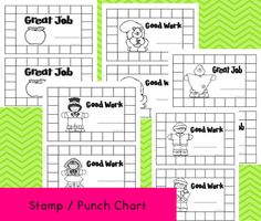 Stamp/Punch Charts