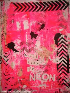It's time for neon from SCRAP & my favourite things