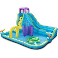 Little Tikes Obstacle Course Waterslide Inflatable Obstacle Course, Kids Obstacle Course, Inflatable Water Park, Pool Hacks, Beach Hacks, Backyard Water Parks, Pool Backyard, Field Day Games, Bouncy House