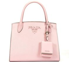 c5acfee99913 Monochrome Tote from Prada  Pink Monochrome Tote with round handle