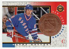 Wayne Gretzky # 18 - 1997-98 Pinnacle Mint Hockey Bronze Hockey Cards, Baseball Cards, Ice Hockey Players, Wayne Gretzky, National Hockey League, New York Rangers, Nhl, Mint, Bronze