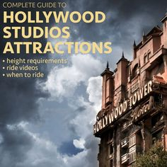 Hollywood Studios is a park with a few can't-miss rides, a couple of forgettable rides, and lots of shows. Let's take a look at all of the attractions. Disney World Shows, Disney World Rides, Disney World Parks, Disney World Tips And Tricks, Disney Tips, Orlando Map, Orlando Travel, Universal Orlando, Disney World Attractions