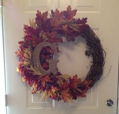 Fall wreath...I wish I was crafty enough to make this. Super cute!