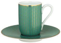 Raynaud Limoges Tresor Turquoise Expresso Cup and Saucer