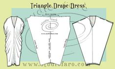 Clever and Simple! Triangle #DrapeDress FREE #patternmaking instructions. #SelfDraft
