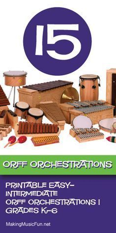 Orff Orchestrations for the Elementary Music Classroom | Grade K-6 - http://www.makingmusicfun.net/htm/orff_orchestrations_sheet_music_index.htm